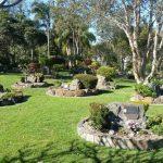 memorial gardens with memorial plaques