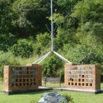 flag and columbarium walls