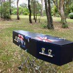 Brisbane Cemeteries, Gold Coast Cemeteries - aus flag coffin - logan funeral home