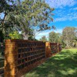 close up columbarium walls at eco memorial park