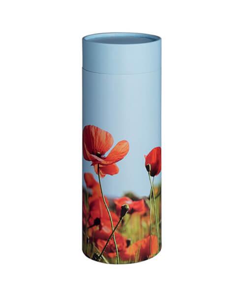 Scatter Tube Poppy Field - Funeral home Logan
