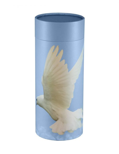 Scatter Tube Ascending Dove - funeral coffin brisbane