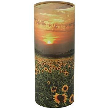 Scatter Tube Sunflower - how to use scatter tube - Scatter Tube Ocean Sunset - Funeral home Logan