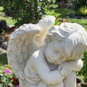 angel statue at memorial gardens Gold Coast