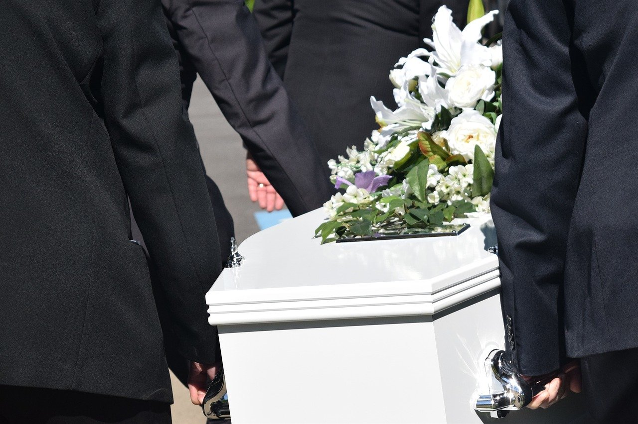 men carrying coffin at funeral - guide to planning a funeral